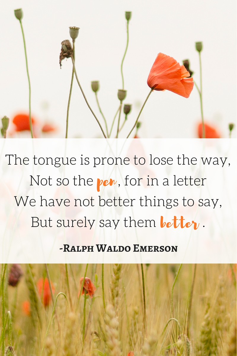 Emerson Quote About Writing a Letter at PicayunePen.com