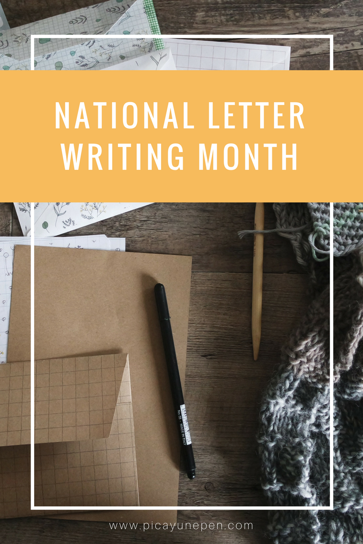National Letter Writing Month at Picayune Pen